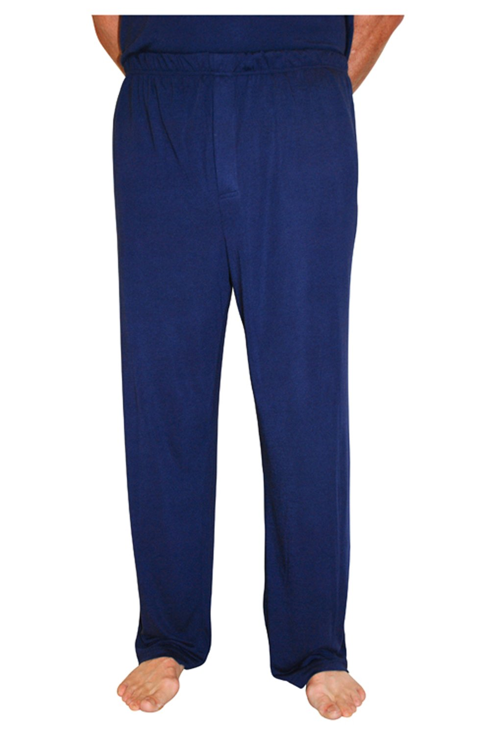 Cool-jams Moisture Wicking Men's Pajama Pant for Travel and Hot Nights (Medium, Navy)