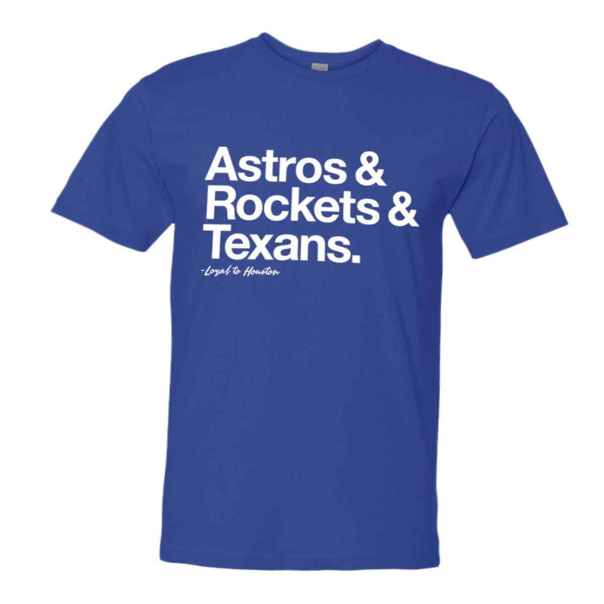 new style 84e11 ccbc4 Amazon.com: Mens/Unisex Loyal Astros Rockets Texans Sports ...