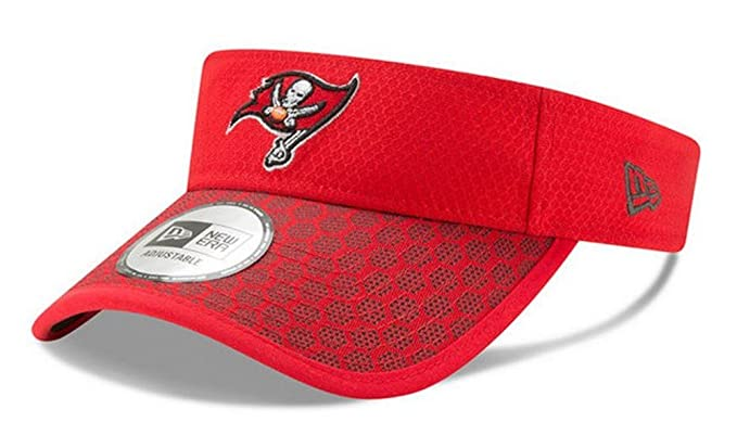 bc6abb7e New Era 2017 NFL Sideline Tampa Bay Buccaneers Visor Hat Cap Red/Black  11461925