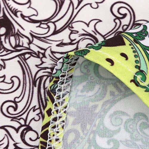 17 t Elegante Femme S Robe 3XL Mini Taille Cocktail Ete Tunique Femme Trapze Ligne Courte A Casual Robes sans Robes Chic POachers Imprime Dress Manches Blanc Lache Femme ftpwA