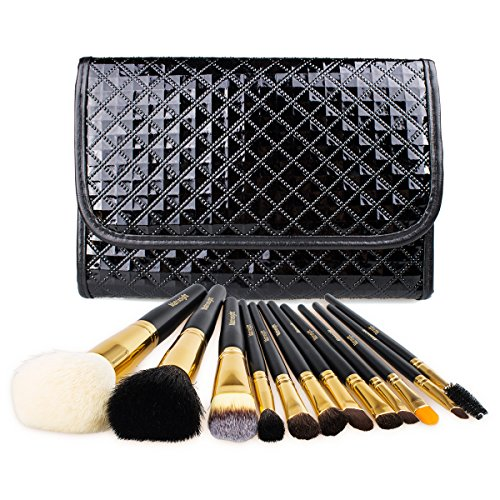 Makeup Brushes Set, MatrixSight 12Pcs Premium Cosmetic Brushes - Professional Facial Foundation Makeup Brush Cosmetic Brush Kit Tools with Travel Pouch
