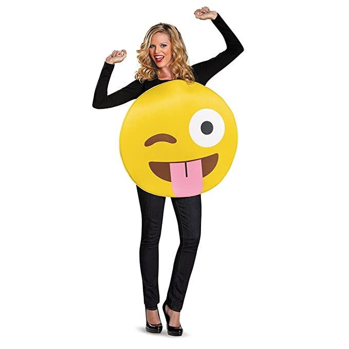 17 super easy costumes for moms making life blissful there are a lot of these emoji costumes there are a lot of t shirt versions too this one would be easy to just slip on over your clothes solutioingenieria Gallery