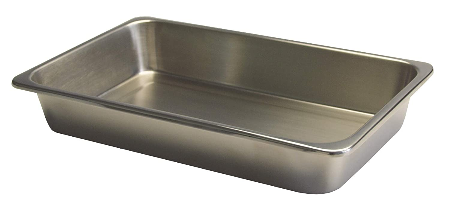 """B000J03LCK Grafco Metal Instrument Tray for Medical, Dental, Tattoo, and Surgical Supplies, Stainless Steel, 8-7/8"""" x 5"""" x 2"""", 3258 61q930leQVL"""