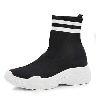 Scarpe Ginnastica Sport Stivaletti Elasticizzati Respirare Sneakers
