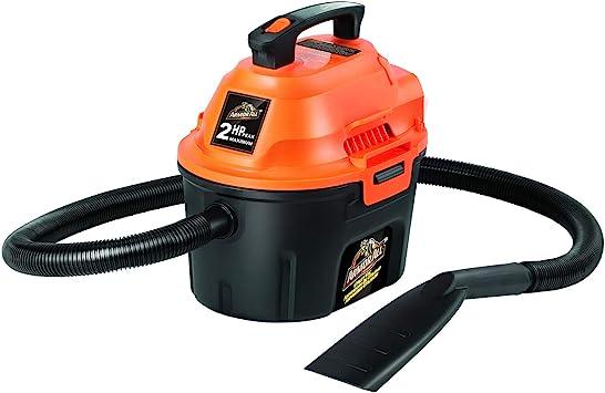 Armor All, AA255, 2.5 Gallon 2 Peak HP Wet/Dry Utility Shop Vacuum - Best For Versatility