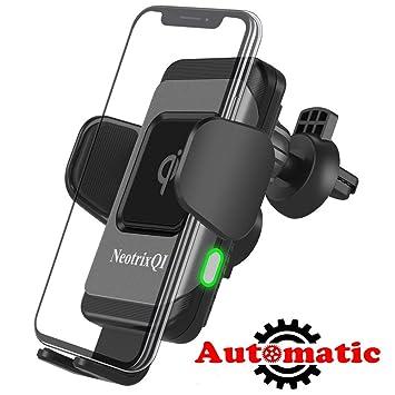 NeotrixQI Cargador Inalámbrico Coche,10W Qi Cargador Wireless Rápida Cargador de Coche 360 Grados Cargador Móvil Aplicable a Rejillas del Aire para ...