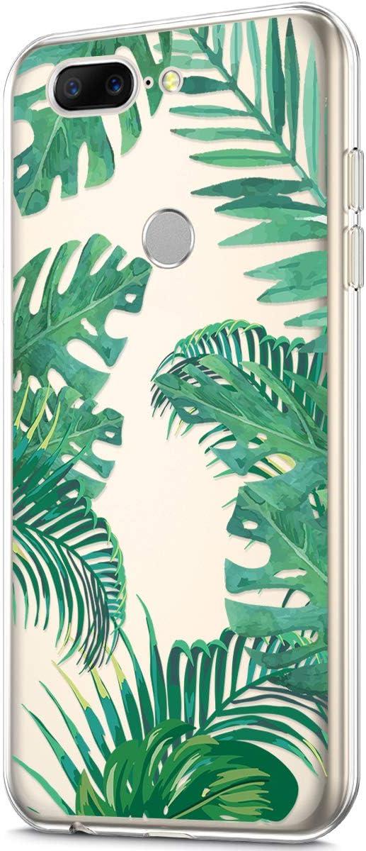 Felfy Kompatibel mit OnePlus 5T H/ülle,Kompatibel mit OnePlus 5T Handyh/ülle Transparent Silikon Schutzh/ülle Elegant Muster D/ünn Weich Klar Silikonh/ülle Sto/ßfest Schlank Cover Case Tasche H/üllen