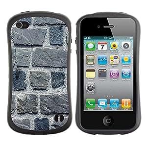 Suave TPU GEL Carcasa Funda Silicona Blando Estuche Caso de protección (para) Apple Iphone 4 / 4S / CECELL Phone case / / Stone Wall Gray House Building Macro /