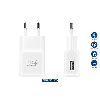 Samsung Original Tipo C Cargador rápido Cargador ep-ta20ewe Color Blanco Incluye Vpower USB Tipo C Cable de Carga Cable de Carga rápida Galaxy S8 S8 + ...