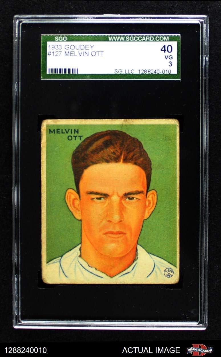 1933 Goudey # 127 Mel Ott New York Giants (Baseball Card) SGC 3 - VG Giants 61q967SytrLSL1250_