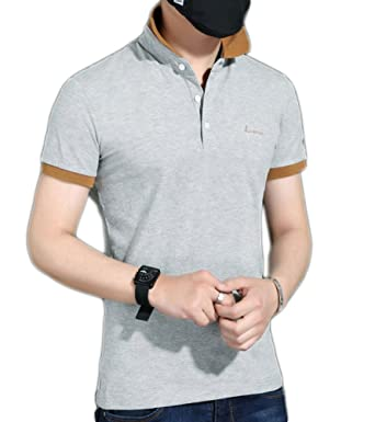 237eb7025 BICMART Men s Solid Cheap Pique Big And Tall Polo Sport Shirts  Amazon.co.uk   Clothing
