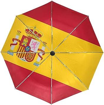 DEZIRO Bandera de España al aire libre, paraguas de apertura automática, resistente al viento, resistente al agua: Amazon.es: Deportes y aire libre