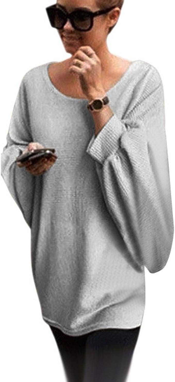 Yanhoo Felpe Maglione Donna Donna Oversize spurga Maglione Maglia Sciolto Pullover