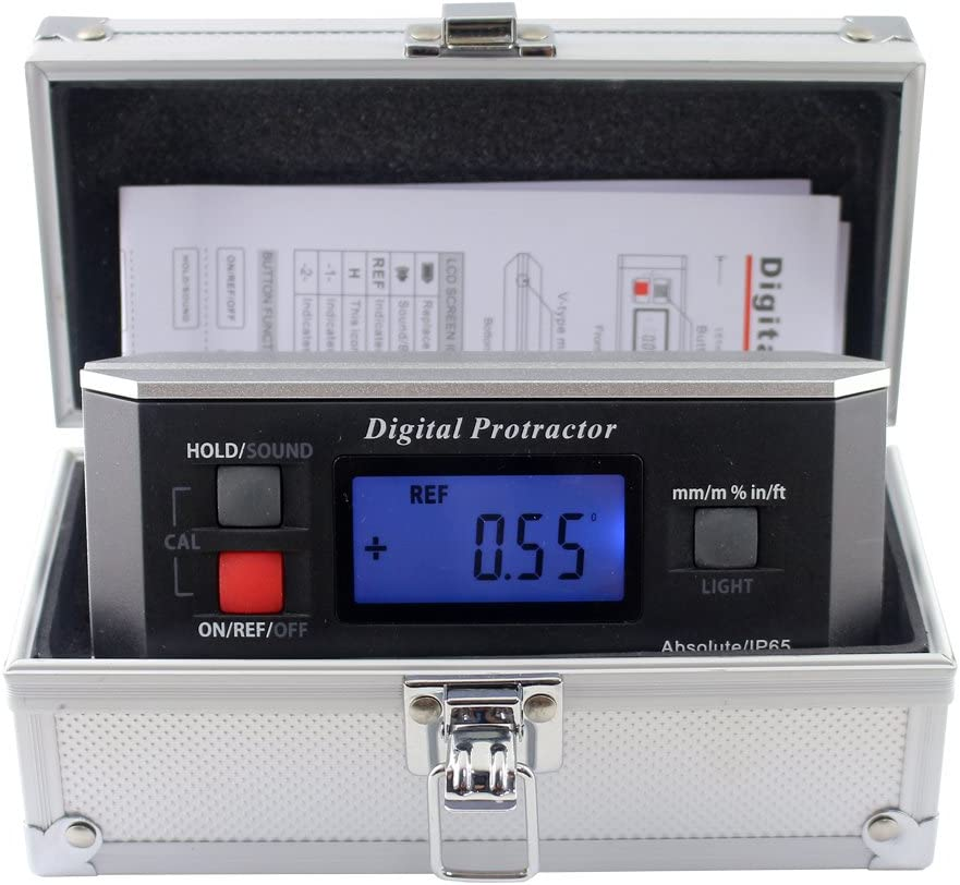 Inclinometer Digital Protractor Angle Finder Level Inclinometer Magnetic VGroove