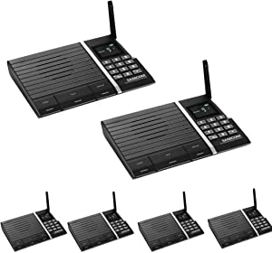 Samcom FTAN10A 10-Channel FM Wireless Intercom System for Home and Office 6 Stations