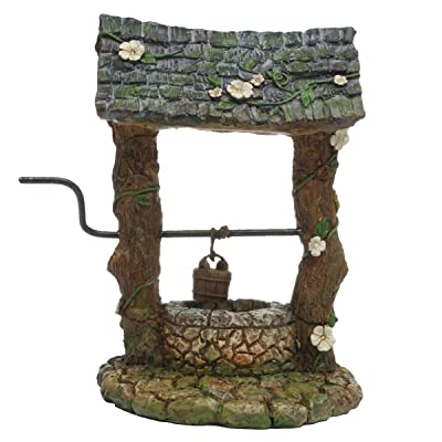 TG, LLC Treasure Gurus Miniature Old Wishing Water Well Fairy Garden Ornament Dollhouse Accessory Decor : Garden & Outdoor