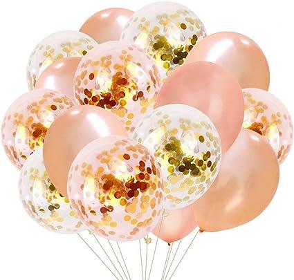 15 Pcs 12 Inch Balloons Set Decorative Balloons Kit for Banquet Birthday Wedding