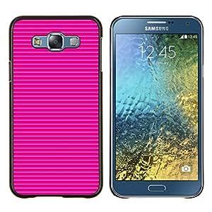 Stuss Case / Funda Carcasa protectora - Blanco Rayas horizontales del patrón - Samsung Galaxy E7 E700