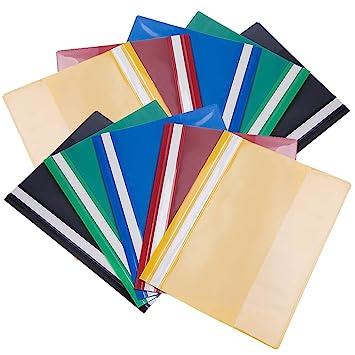 Carpetas de archivo Paquete de 10 colores surtidos A4 Presentación del proyecto Documento Informe de carpeta