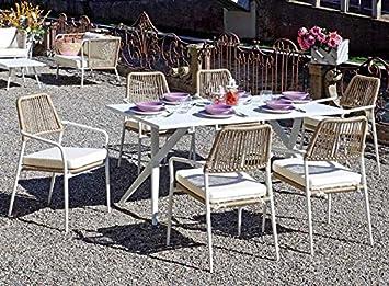Import Set Comedor Seis plazas con Mesa y sillones para ...