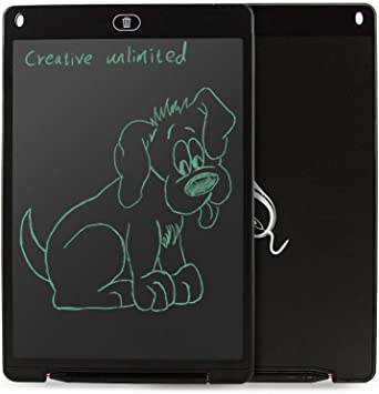 MAODATOU Drawing Board eWriter 12 Inches LCD Electronic Light Blackboard Writing Board Childrens Graffiti Painting Board for Kids and Adults at Home,School and Office Rose