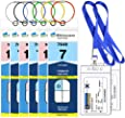 Cruise Luggage Tags, Cruise Essentials Holders Badge Holders for Norwegian Royal Caribbean 8 Pack