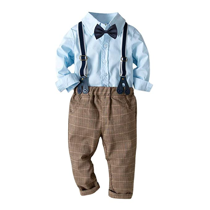 Amazon.com: Little Gentleman Bowtie camiseta de manga larga ...
