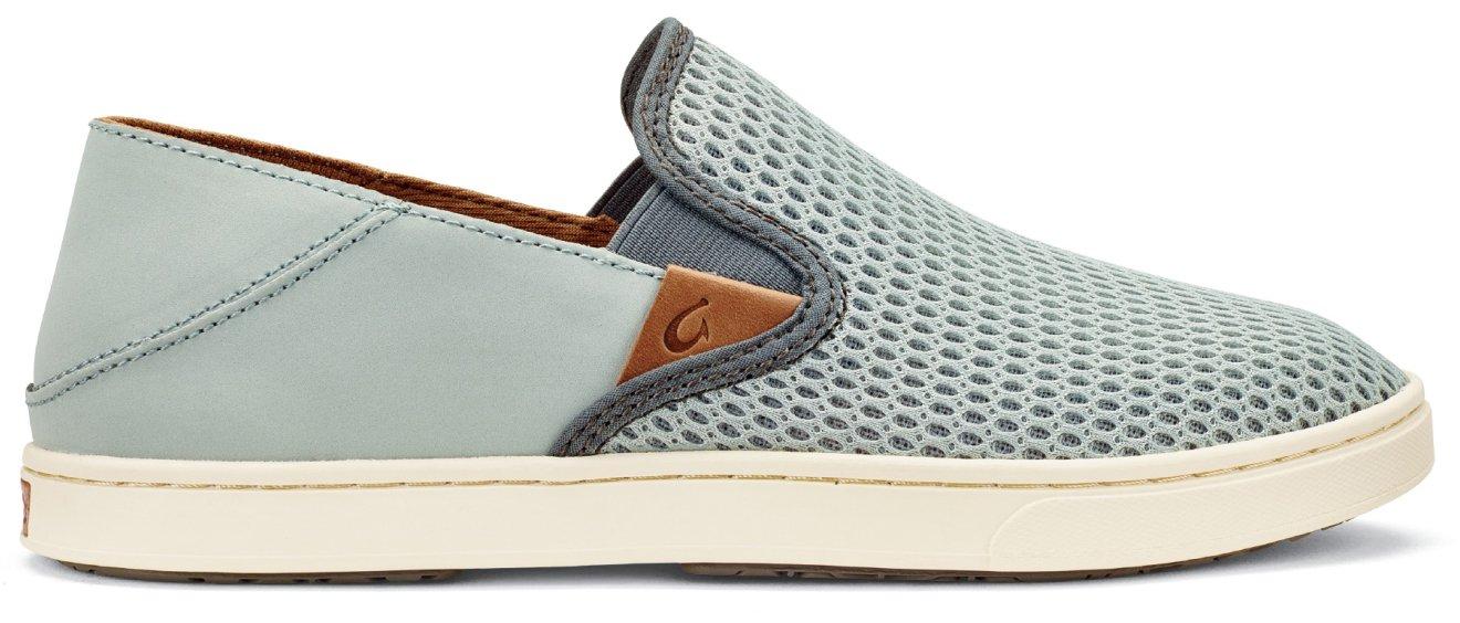 OLUKAI Pehuea Shoes - Women's Pale Grey/Charcoal 8.5