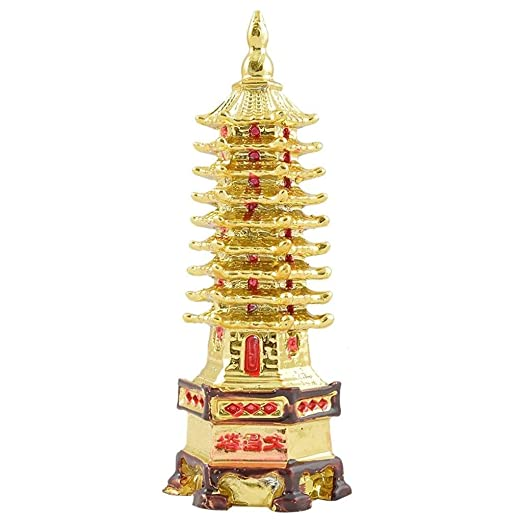 Odishabazaar Golden Feng Shui Education Tower For Academic Success For Child's Study Table Home Décor Accents at amazon