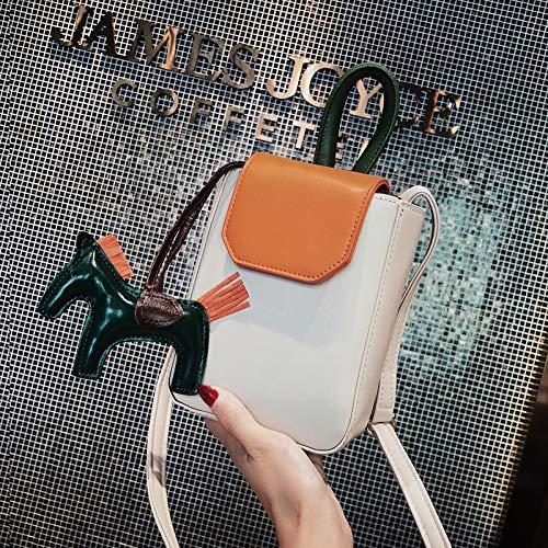 Lentejuela Bolsa Bolsa impresión Carta pequeña gelatina Transparente Mujer Cuadrada de láser de Color Contraste Paquete Bolso de Tendencia Retro Costura qCnItEwfU