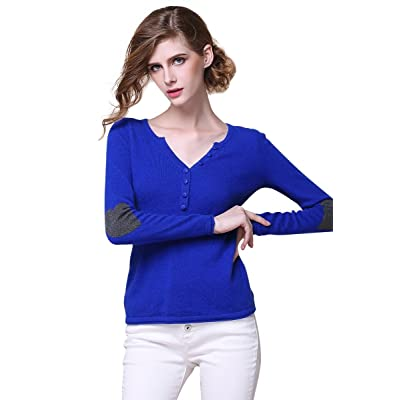 织礼 Zhili Women's V-Neck Cashmere Pullover Sweater at Amazon Women's Clothing store