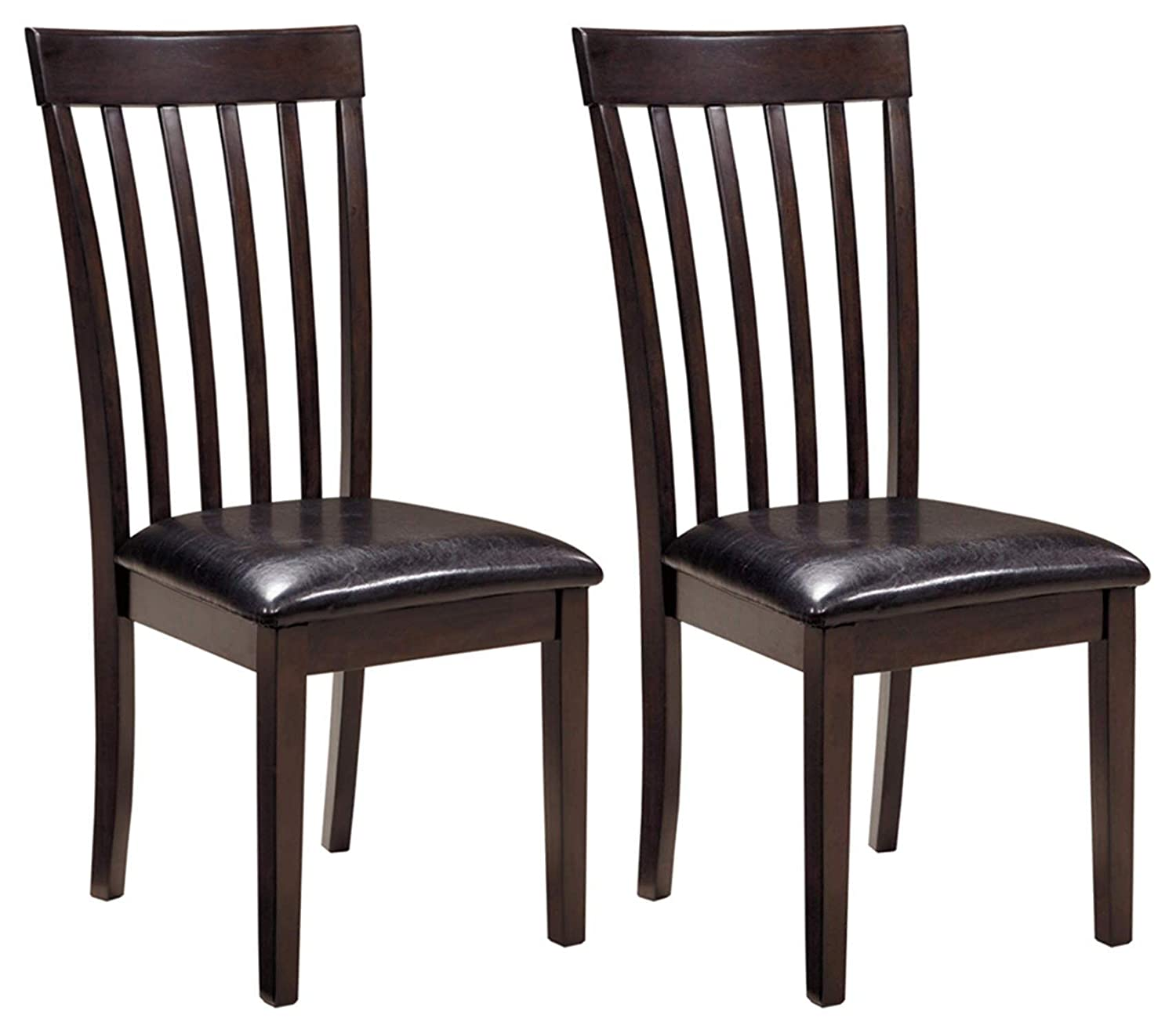 Ashley Furniture Signature Design – Hammis Dining Room Chair – Contemporary – Set of 2 – Dark Brown
