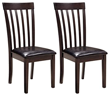 Ashley Furniture Signature Design - Hammis Dining Room Chair - Contemporary  - Set of 2 - Dark Brown