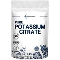 US Origin Potassium Citrate Powder, 1 KG (35 Ounce), Pure Potassium Citrate Supplement, Strongly Supports Mineral…