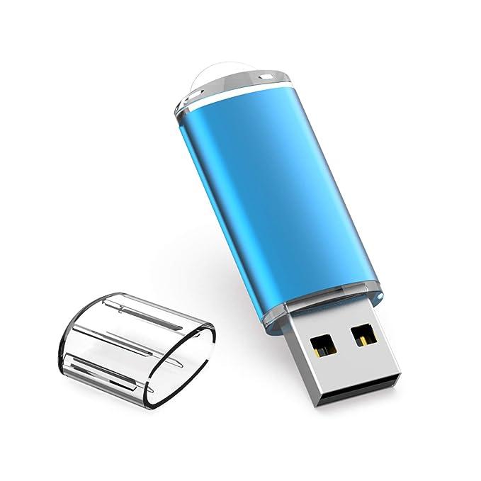 Memoria USB 32GB, TOPESEL Pendrive Flash USB 2.0 Stick Flash Drive Llave USB, Azul