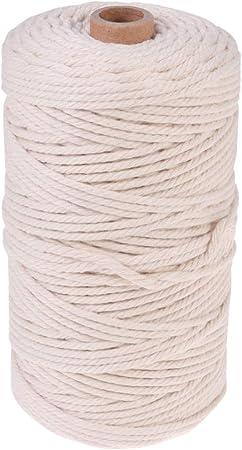 HEALLILY 150m 3mm cable de macramé cuerda de macramé cordón de ...