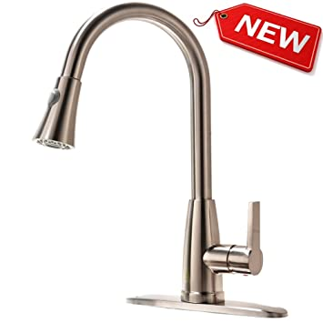 Hotis Best Modern High Arch Single Handle Pull Out Single Handle ...