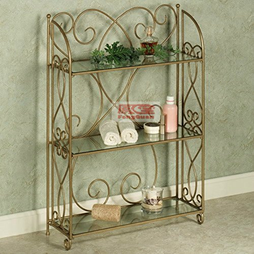 Wrought iron racks/flower/shoe rack/bookshelf/three/iron bathroom rack-A hot sale