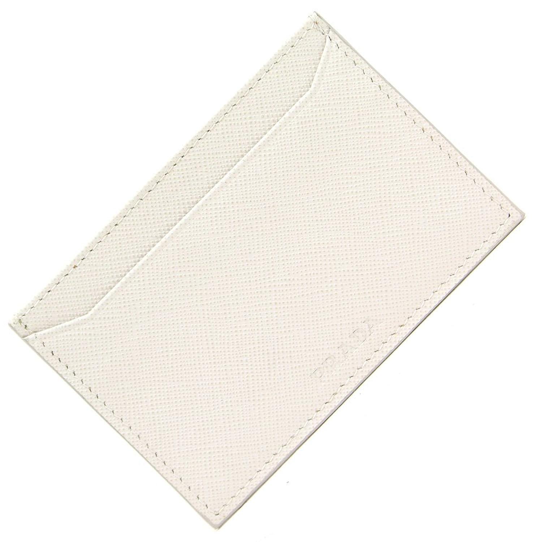 PRADA(プラダ) カードケース 2M0208 オフホワイト サフィアーノレザー 中古 白 薄型 パスケース 名刺入れ 定期入れ SUICA ロゴ PRADA [並行輸入品] B07D7D74TY