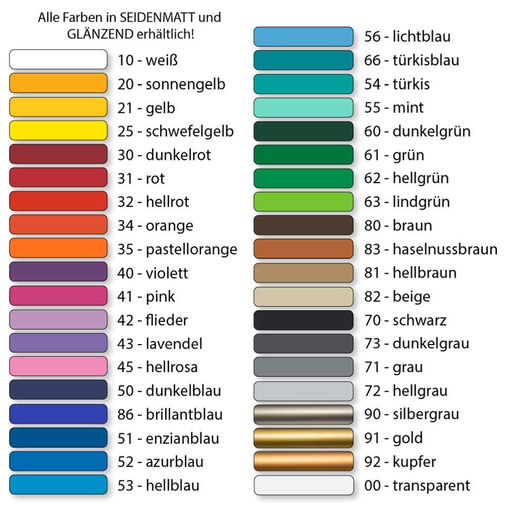 F/ür Bad K/üche etc 50 St/ück Kiwistar Fliesenaufkleber Azurblau 52 Gl/änzend 2,2 x 2,2 cm