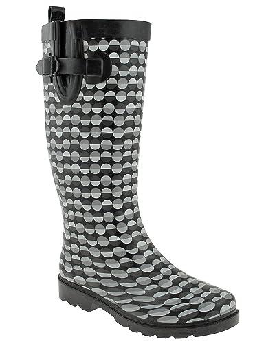 Women's Capelli New York Split Dot Lines Rain Boots excellent cheap price ErTuTJ