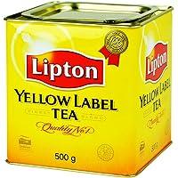 Lipton/立顿红茶粉 斯里兰卡原装进口黄牌精选红茶500g 小黄罐装