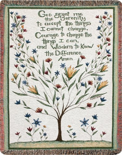 Manual Inspirational Collection 50 x 60-Inch Tapestry Throw, Serenity Prayer, (Tapestry Prayer)