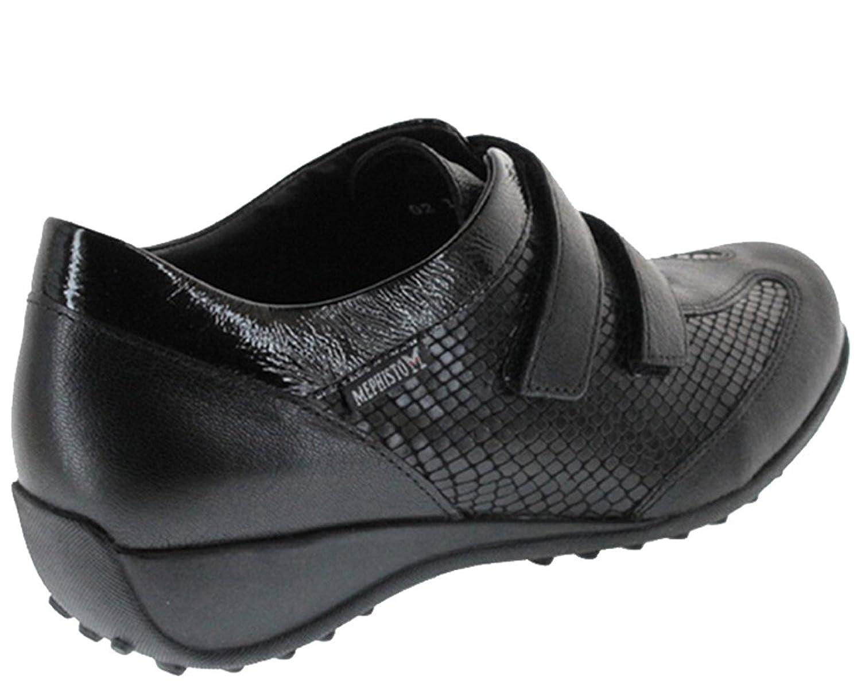 Mephisto - Leda. Color negro. Zapatos para mujer muy cómodos, con plantilla acolchada extraíble. (6)