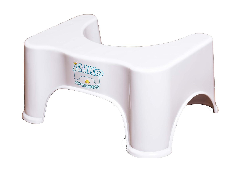 Tabouret de Salle de Bain Aide /à Atteindre Une Posture Naturelle R/échauffement Achko Tabouret de Toilettes antid/érapant pour Salle de Bain Conservation et Fleurs