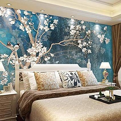 Hongyuanzhang Papier Peint Personnalise 3d Papier Peint Bleu