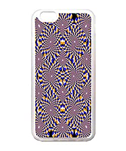 VUTTOO Iphone 6 Case, Optical Illusion Circles Transparent Soft TPU Back Case Cover for Apple iPhone 6 4.7 Inch