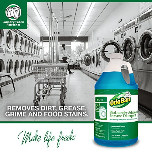 OdoBan Professional Cleaning and Odor Control Solutions, BioLaundry Advanced Enzyme Detergent, 2 Gal by OdoBan (Image #2)