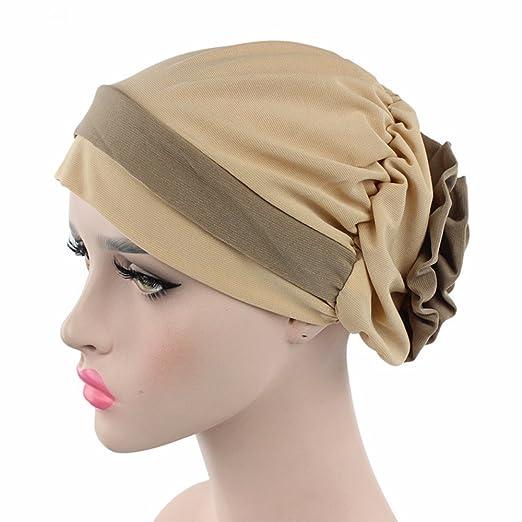 Chemo Cancer Head Scarf Hat Cap Ethnic Cloth Print Turban Headwear Women  Stretch Flower Muslim headscarf 6236cacd3a3