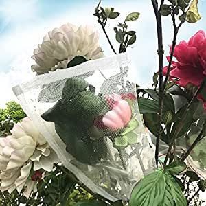 """Agfabric Standard Insect Screen & Garden Netting Bags against Bugs, Birds & Squirrels - 12""""x 8"""", 10pcs of Mesh Netting Bags, White"""